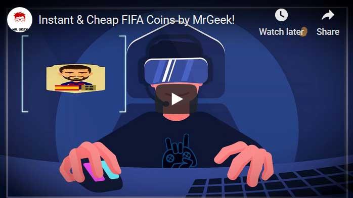 مزاد لاعب MrGeek FIFA 21 للعملات المعدنية