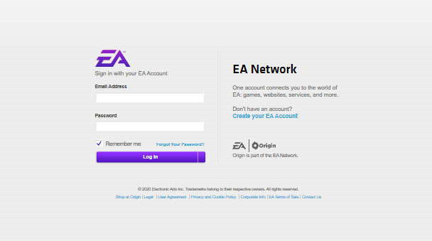 Login EA Account