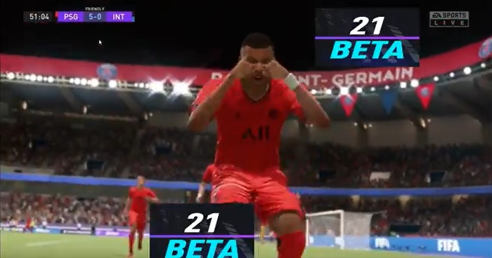 PSG-7 Mbappe in lacrime celebrando il gol fifa 21