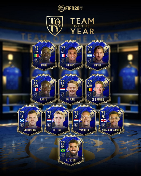 TOTY FUT20 Ultimate XI FIFA