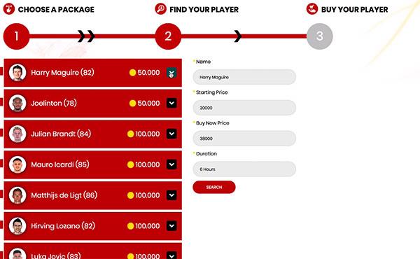 Comprar FUT Coins Player Auction Trade Transfer Market
