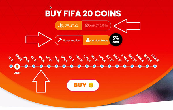 fifa coins price slider