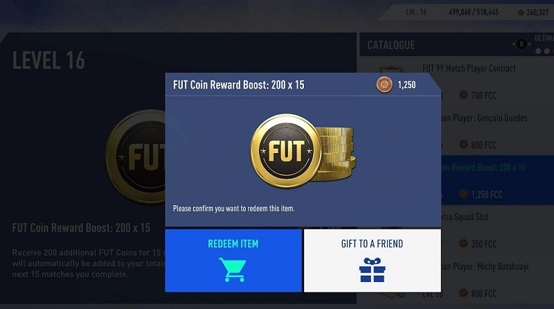FIFA Coins Reward Boost