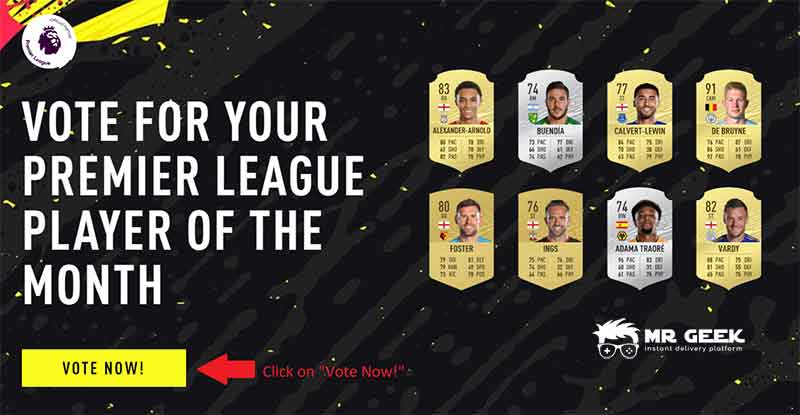 voting for potm fifa 20 premier league january february march