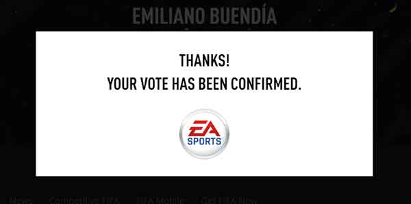 FUT player vote thank you EA
