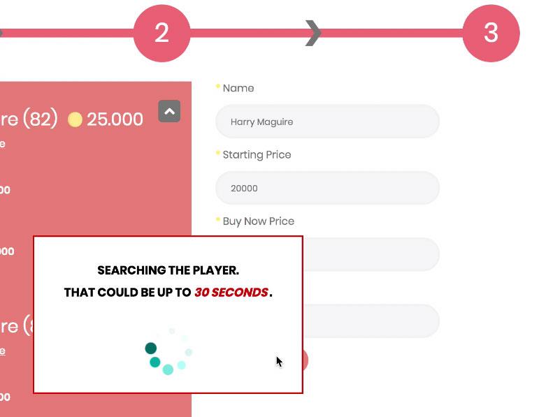 Búsqueda de jugadores MrGeek Player Auction Market de subastas FIFA Monedas Comprar