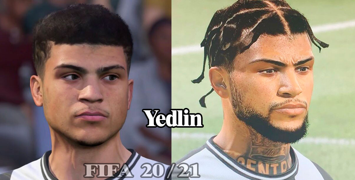 Yedlin Fifa 20-21 conception de visage graphique de comparaison